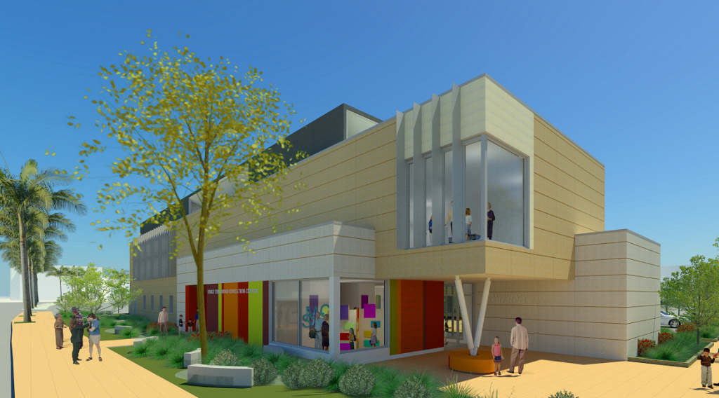 An artist's rendition of the future early learning center.