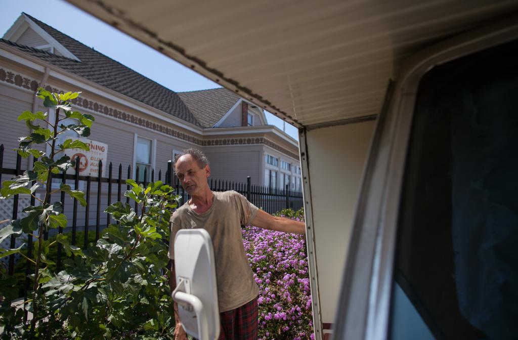 Kevin McManus lives in his RV in San Pedro.