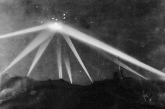 Enemy plane, weather balloon or UFO? The Los Angeles Times printed this image after the military shot at an unknown object in 1942.