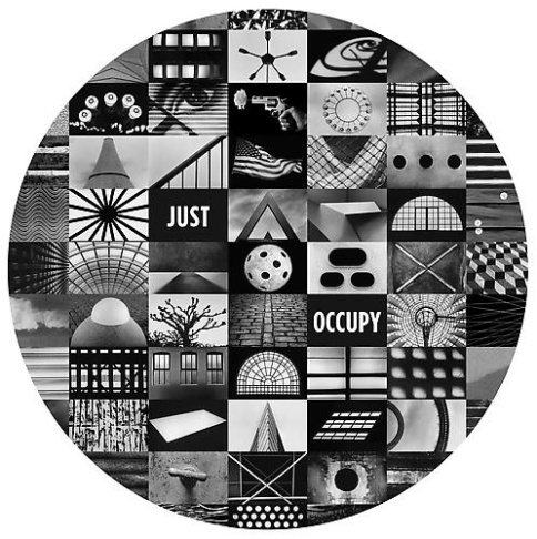 JUST OCCUPY by Christopher Felver, 2011 - Archival digital pigment print