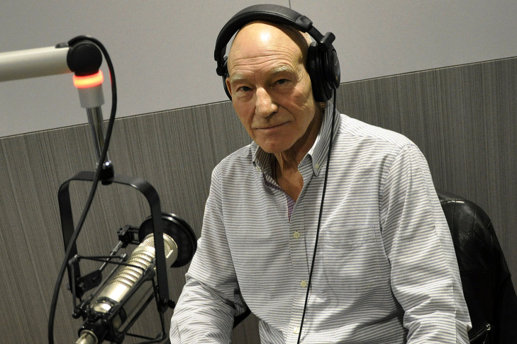 Sir Patrick Stewart during his interview with John Horn on KPCC's The Frame.