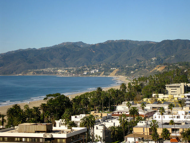 A view of Santa Monica, CA.