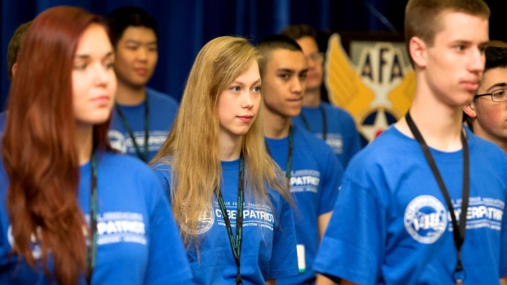 A promo video explains the CyberPatriot competition, which was created to motivate students to join careers in cybersecurity and other science, technology, engineering and math (STEM) fields.