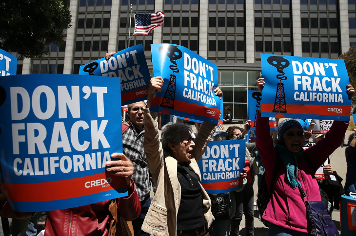 Activists Protest Fracking In California