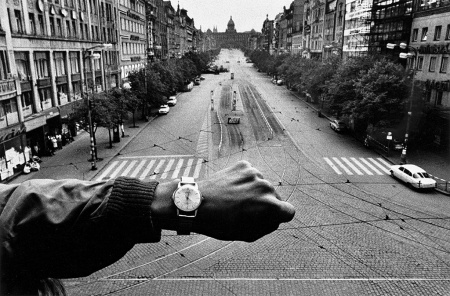 "Prague, 1968, part of ""Josef Koudelka: Nationality Doubtful,"" at the Getty Center."