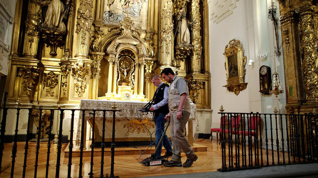 Researchers search for the remains of writer Miguel de Cervantes at