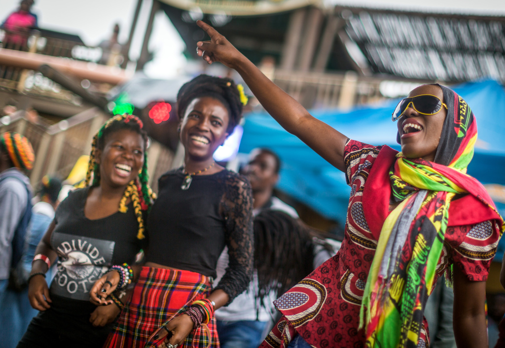 Rastafarian reggae fans gather at the Bob Marley Earthday Festival and Rasta Fair in Durban, South Africa on February 3, 2018.