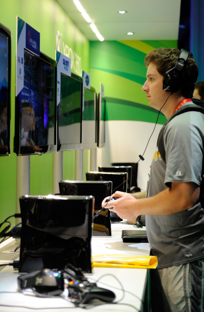 Marc Schroeder plays 'Gears of War 3' at  Microsoft's Xbox 360 display at the 2012 International Consumer Electronics Show at the Las Vegas Convention Center. Xbox fans have been waiting for years for an Xbox update, and now it may not be far away.