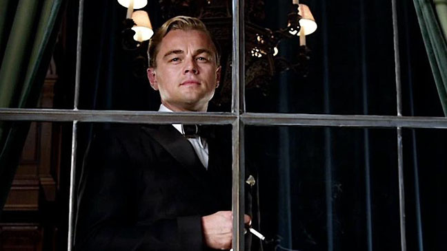 Leonardo DiCaprio as Jay Gatsby in the film version of