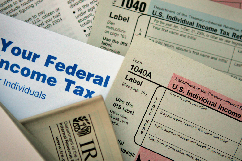 Current federal tax forms are distributed at the offices of the Internal Revenue Service November 1, 2005 in Chicago, Illinois.