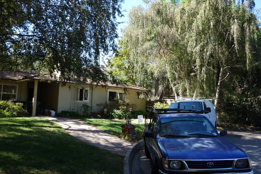 This is one of seven Pasadena homes located close enough to the Arroyo Seco Channel to be in danger of flooding in an unusually strong rainstorm.