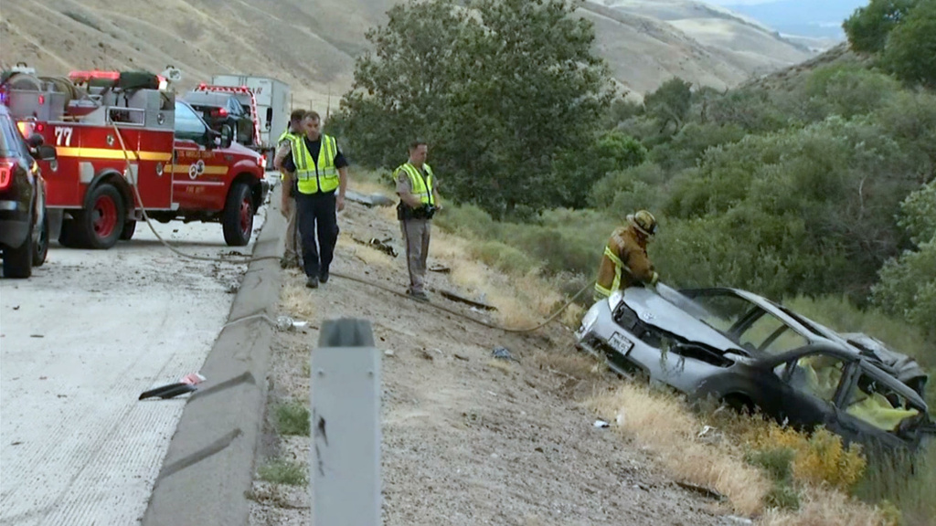 An image of the scene after a crash in Gorman on Tuesday, June 28, 2016.