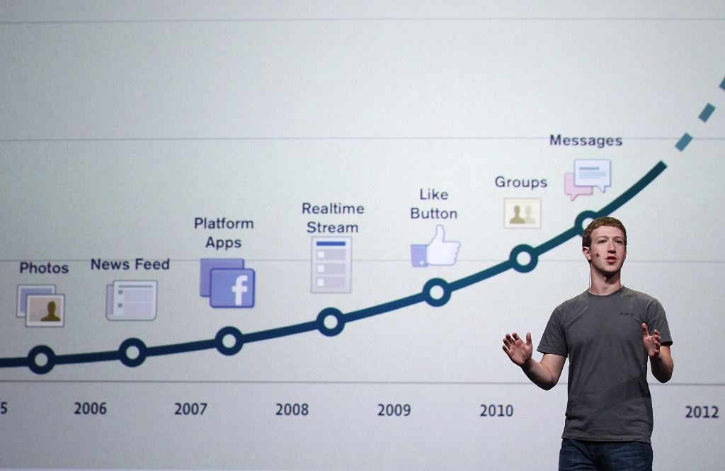 Facebook CEO Mark Zuckerberg delivers a keynote address during the Facebook f8 conference on September 22, 2011 in San Francisco, California.