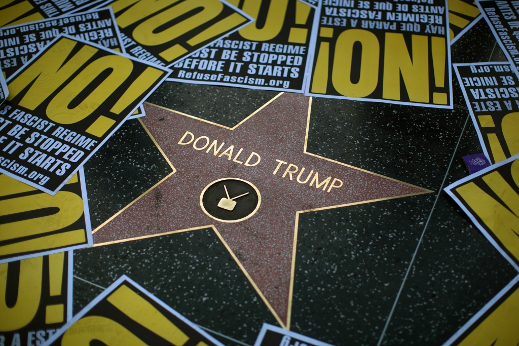 Trump Supporters, Opponents Face Off at Competing Rallies in Hollywood