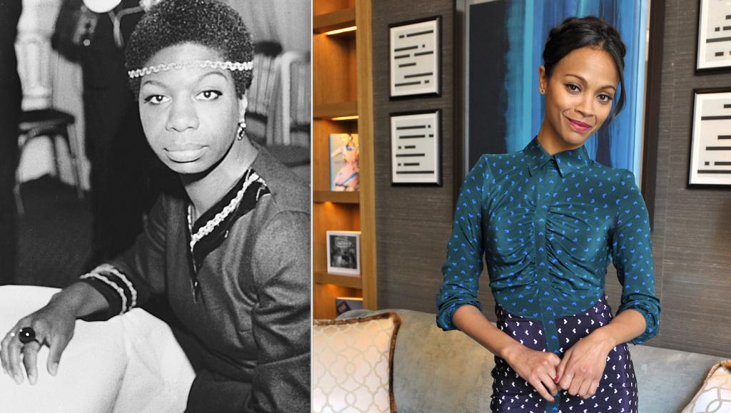 Nina Simone (left) and Zoe Saldana
