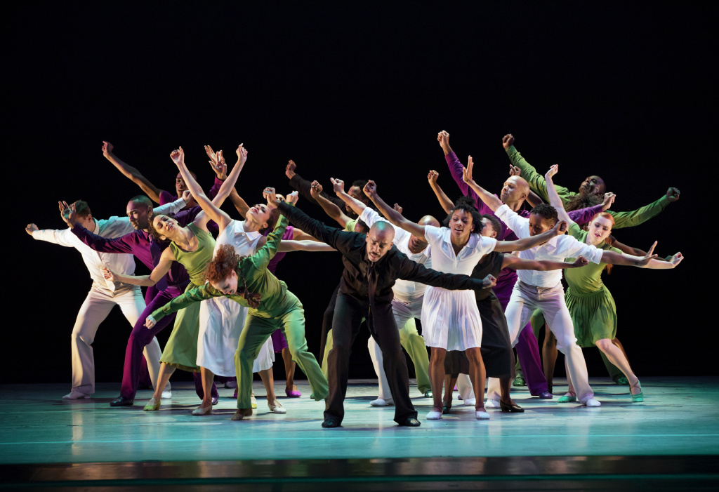 The Alvin Ailey American Dance Theater performs