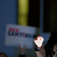 Rick Santorum Holds Campaign Rally In Washington Ahead Of Caucuses