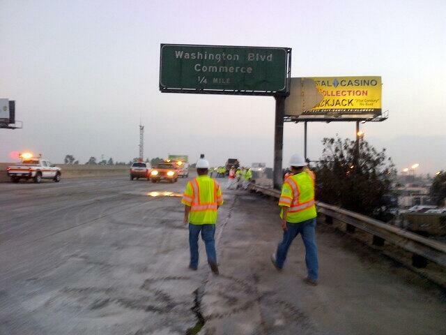 freeway cones closed