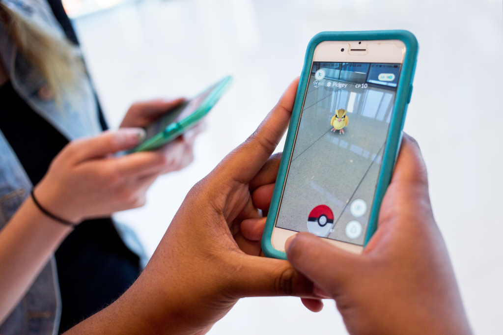 File: People playing Pokemon Go.