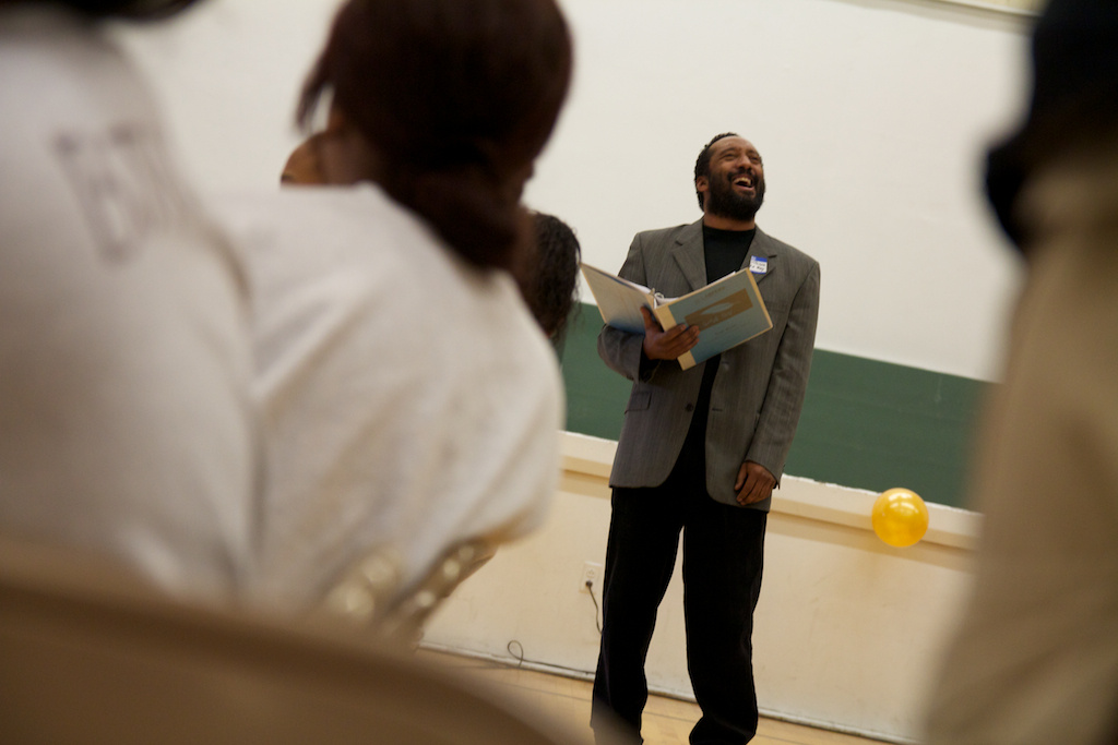 L.A. Opera baritone LeRoy Villanueva performs an original piece based on the writing of a formerly incarcerated youth at Central Juvenile Hall.