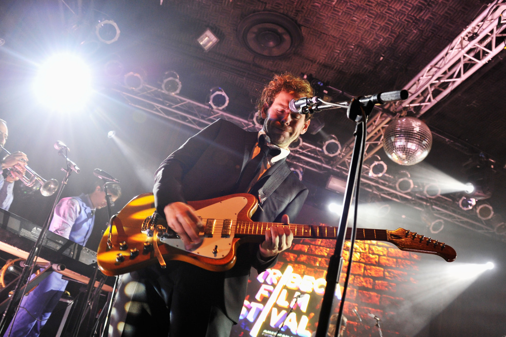 Aaron Dessner of The National performs at the Opening Night After Party and Performance during the 2013 Tribeca Film Festival on April 17, 2013 in New York City.