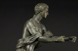 Apollo as an Archer (Apollo Saettante), Roman, 100 B.C.–before A.D. 79; found in Pompeii, Italy, in 1817–18. Bronze.