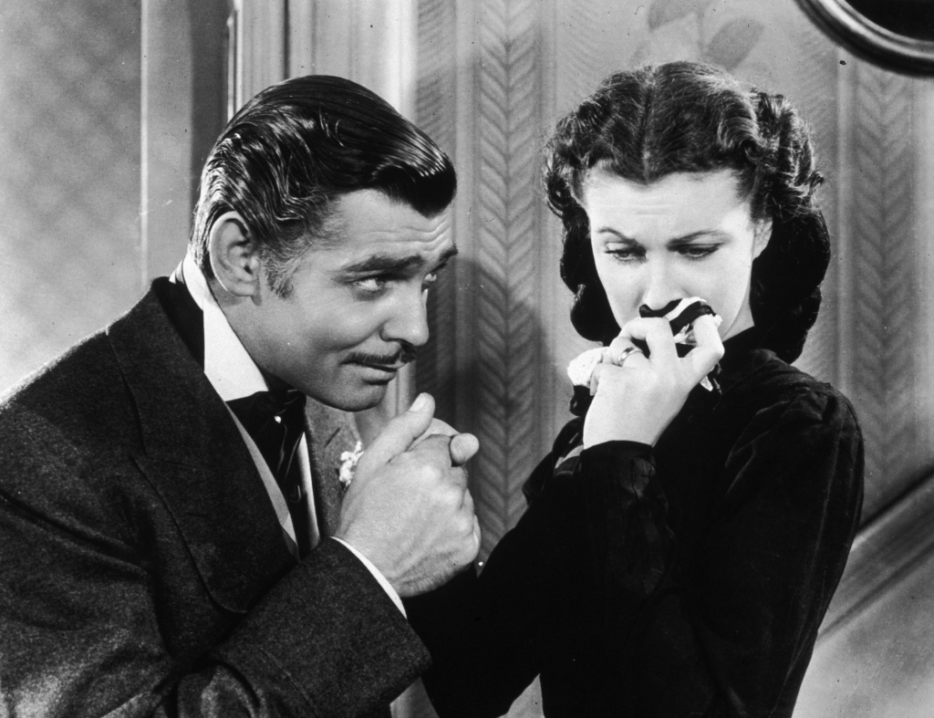 American actor Clark Gable in his role as Rhett Butler in 'Gone With The Wind.'