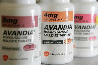 In this photo illustration bottles of Avandia diabetes medication are seen at Jack's Pharmacy May 21, 2007 in San Anselmo, California.