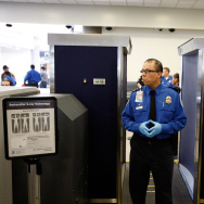 LA Mayor Villaraigosa Uses Airport Scanner At LAX