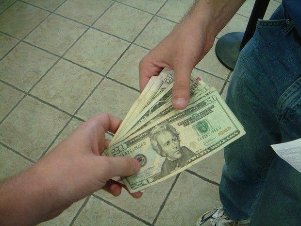 A cash payment, June 2007