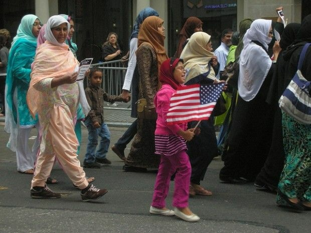 Participants in last year's annual Muslim Day parade in New York, September 26, 2010