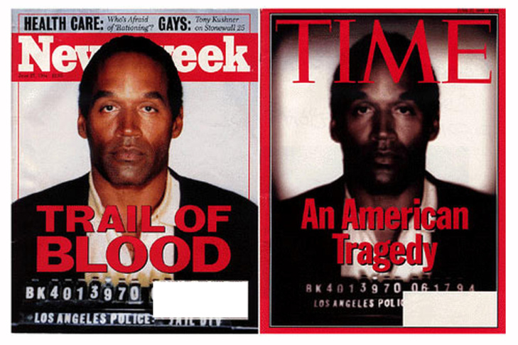 Side-by-side comparison of Newsweek and Time covers, which were on newsstands the same day.