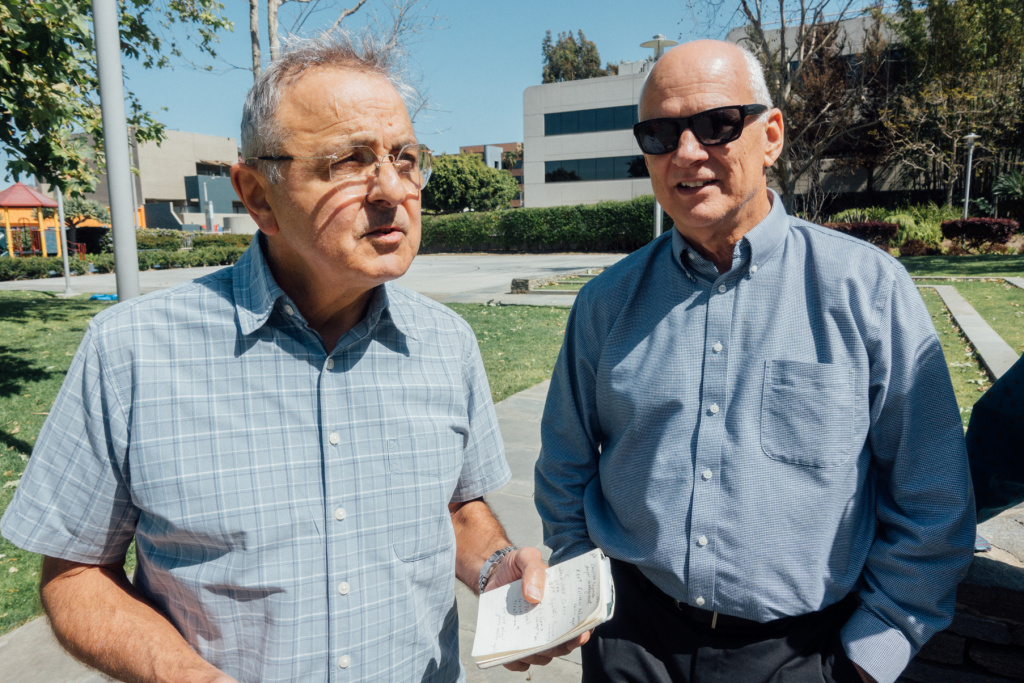 Left: Gerald Saldo. Right: Paul Mahony, both attendees of the PTSD Clinic at the West LA VA.