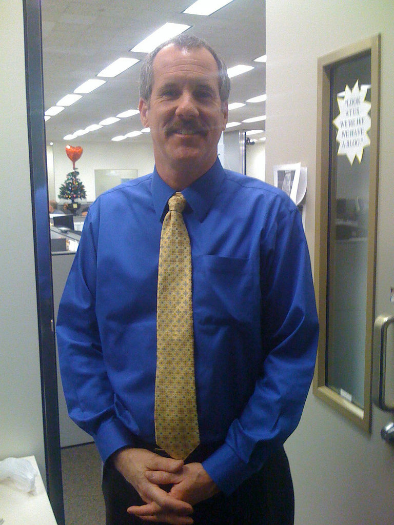 Russ Stanton on his first day as editor of the Los Angeles Times in 2008.