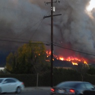Pictures of the fire from Lone Hill Avenue in Glendora.