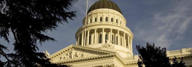 The California State Capitol in Sacramento, California.