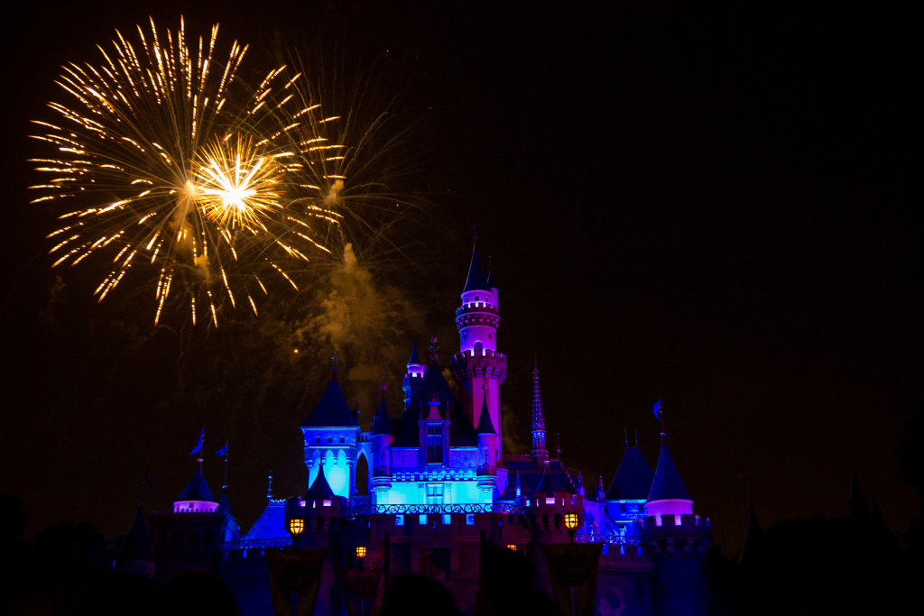 The Disneyland fireworks during a show on April 27, 2013.