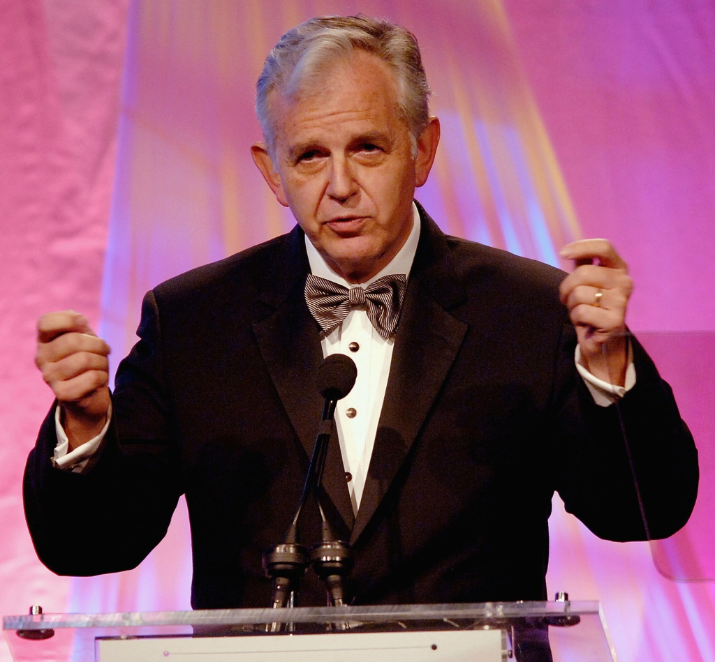 ASCAP Board of Directors Member Bruce Broughton speaks on stage during the 21st Annual ASCAP Film and Television Awards Gala at The Beverly Hilton Hotel in Beverly Hills on April 11, 2006.