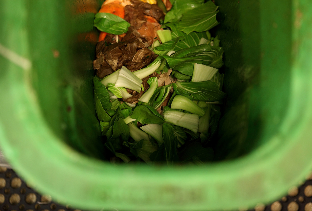 SAN FRANCISCO, CA - DECEMBER 10:  Food scraps are seen in a compost bin at The Slanted Door restaurant on December 10, 2010 in San Francisco, California. One way to reduce food waste is through composting.