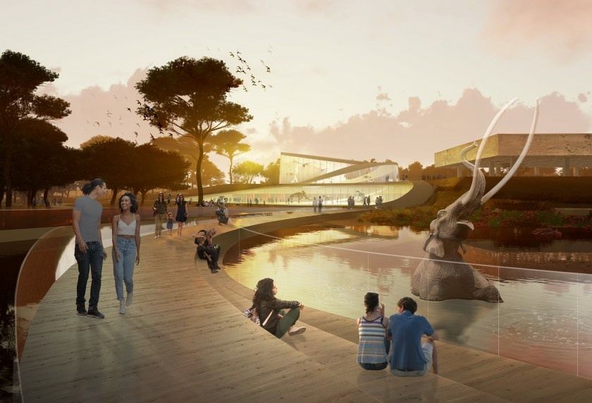 One of three proposed redesigns for the La Brea Tar Pits