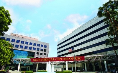 A file photo of the Keck Medical Center at USC. According to the National Union of Healthcare Workers, one in six of the workers who planned to protest earns less than $15 per hour.