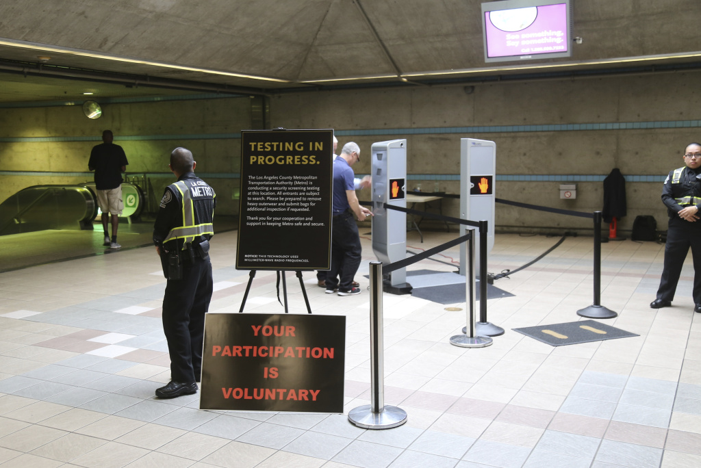 Body scanners being tested in Los Angeles subway system