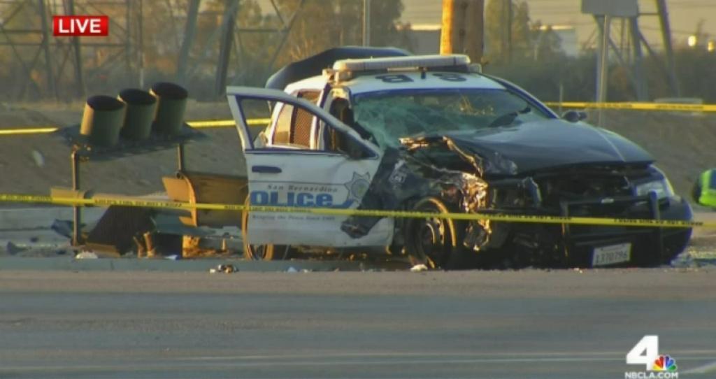 San Bernardino police officer dies in crash with suspected drunk