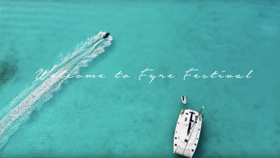 A still from Fyre Festival's promotional trailer.