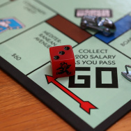 In this photo illustration, the Monopoly iron game piece is displayed on February 6, 2013 in Fairfax, California.