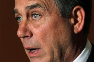 U.S. Speaker of the House Rep. John Boehner (R-OH) makes a statement on the budget negotiations to the media April 8, 2011 on Capitol Hill in Washington, DC.