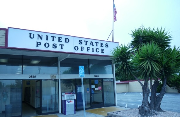 The now-closed post office on Orange Olive Road in Orange County