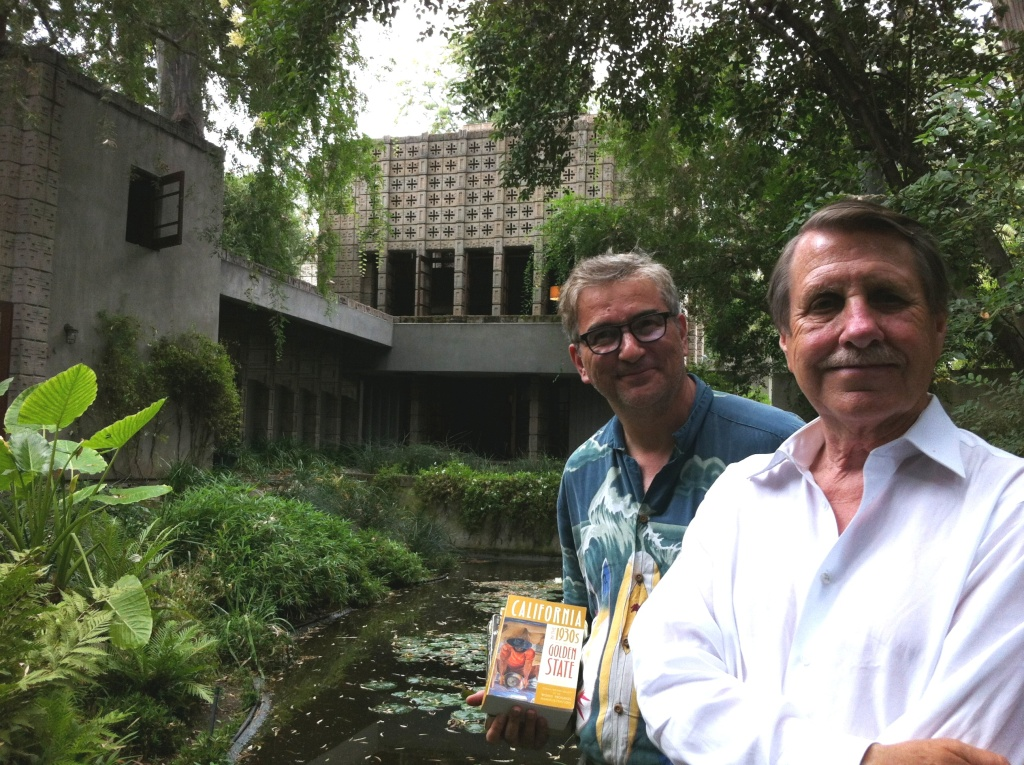 David Kipen and Realtor Crosby Doe at Frank Lloyd Wright's Millard House in Pasadena. It's mentioned on p. 248 of