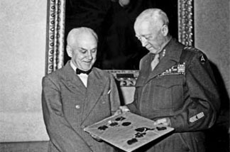 On June 11, 1945, Gen. George S. Patton Jr. presented Huntington trustee Robert Millikan with an original typescript of the Nuremberg Laws signed by Hitler.