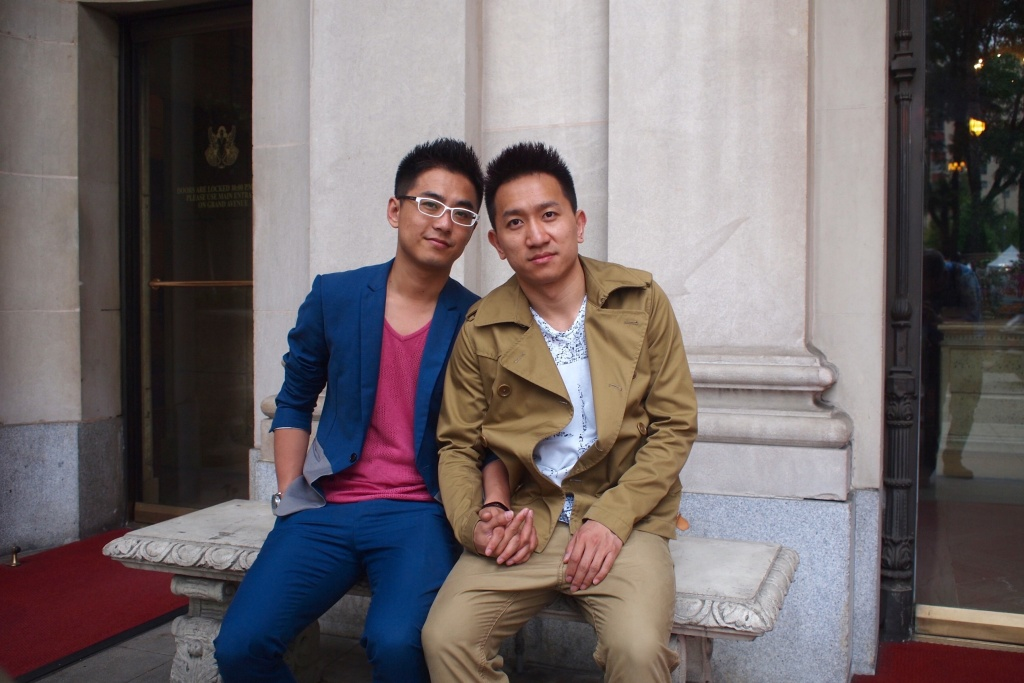 Liu Xin met his husband Hu Zhidong through mutual friends over nine years ago. The Beijing couple got married on Tuesday, June 9 in West Hollywood.